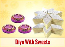 Diya With Sweets