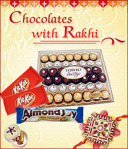 Chocolates with Rakhi